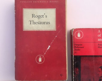 Vintage Roget's Thesaurus Penguin Reference Book, 1956. English reference book.