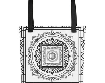 Tote bag- Square Lace Texture