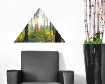 Through the Woods Wall Decal - Triangular Forest Wall Decal by Chromantics