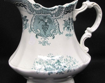 Antique Wedgwood Royal Raleigh Green Pitcher