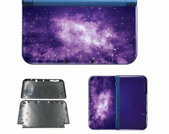 NEW Nintendo 3DS XL Purple Galaxy Limited Edition Case Full Housing Shell Replacement