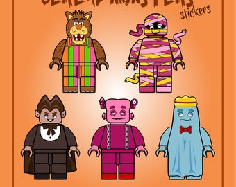 Cereal Monsters Lego Style Sticker Set