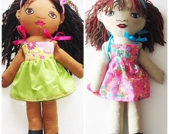 Custom Girl Rag Doll - from a photo - The Sisters
