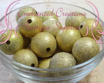 20mm Lemon Lime Stardust Acylic Beads Qty 10
