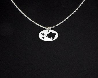 Sint Maarten Necklace - Sint Maarten Jewelry - Sint Maarten Gift