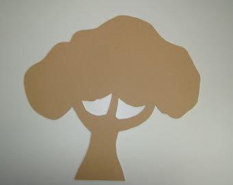 Large tree wood MDF customize L 40 x 38 cm H