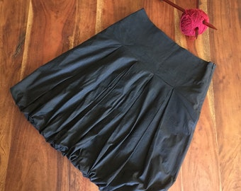 The bubble is back! Vintage Etam black bubble skirt