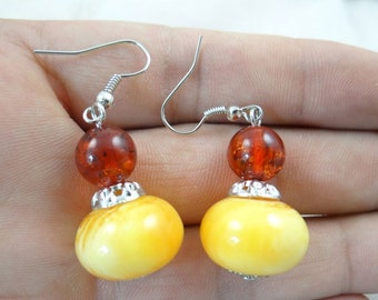 Amber Earrings Baltic Amber Earrings Baltic Amber Earrings In Handmade Silver Earrings Wire Natural baltic Amber Earrings Drop Earrings