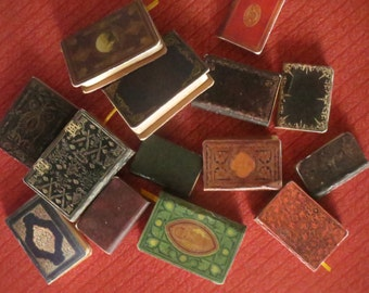 1:12 Scale Downloadable Printable Medieval and Shabby Book Covers for Do It Yourself Dollhouse Books