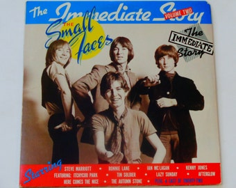 The Small Faces - The Immediate Story Volume Two - English Mod Band - Psychedelic Pop - Immediate Records 1975 - Vintage 2LP Vinyl Record