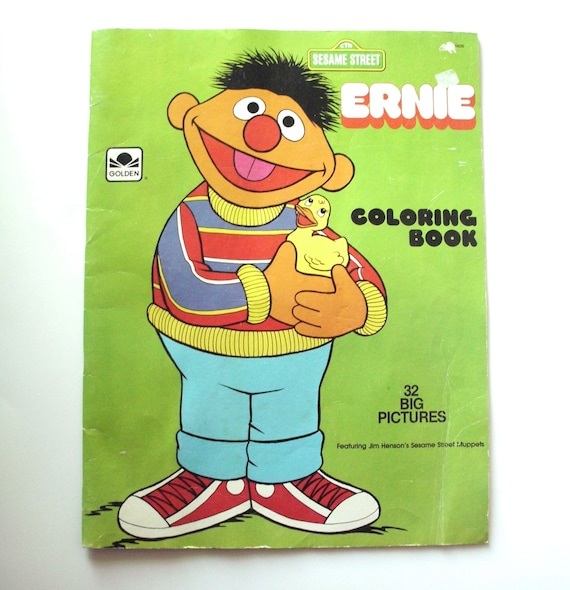 Vintage Giant Oversized Ernie Coloring Book 1982