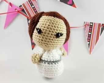 Princess Leia amigurumi, Leia amigurumi, Princess Leia doll, Leia doll, geek toy, geek gift, nerd toy, nerd gift, geek craft, nerd craft