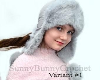 EAR FLAP HAT, Rabbit Fur Kids Hat, Ushanka Hat, Child Hat, Fur Hat with Ear Flaps, Warm Hat, Childs Fur Hat, Trapper Hat, Girl Hat, Fur