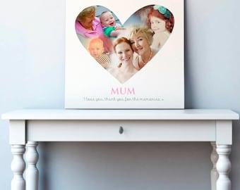 Personalised Heart Montage Art