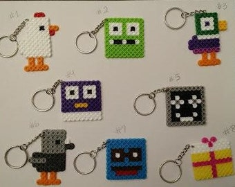 Crossy Road keychain party favor pack - Set of 8