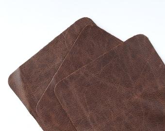 "Laguna Dark Brown Scrap Leather 6"" x 6"" TD116"