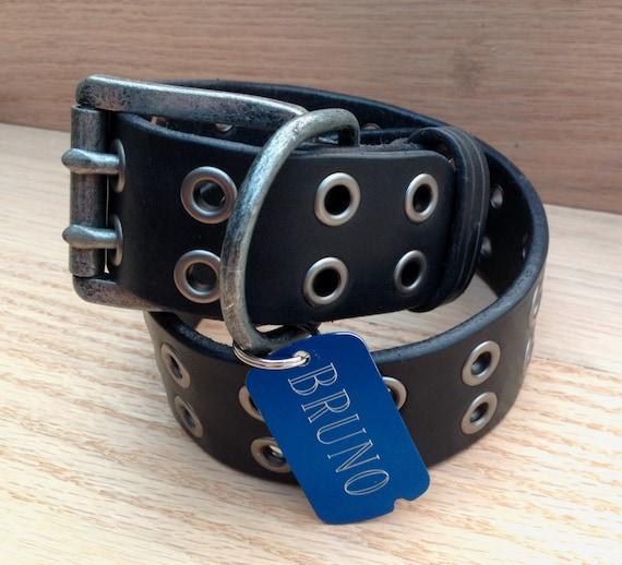 Leather Dog Collar / large dog collar / black leather collar