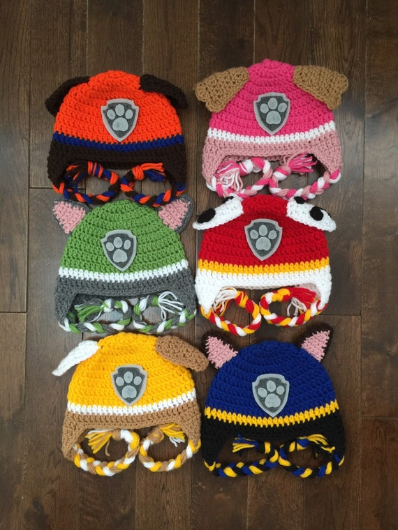 Paw Patrol Crochet Character Hats Made To Order Newborn Baby