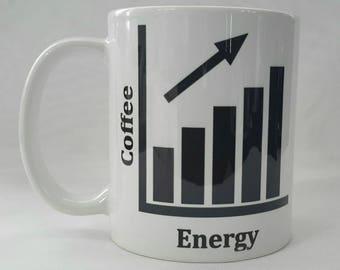 Novelty Coffee/Energy Graph - Ceramic or Travel Mug