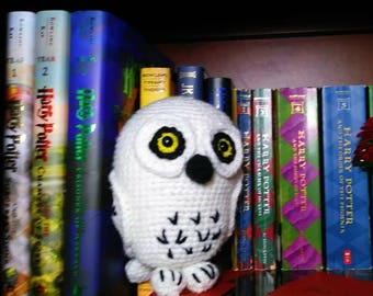Hedwig the owl. Crocheted stuffed animal.