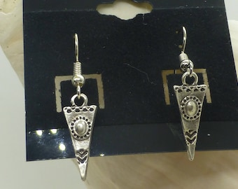 Small Silver Pierced Earrings