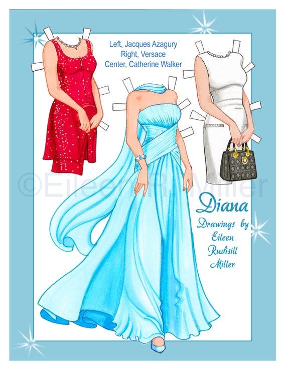 Princess Diana Paper Doll