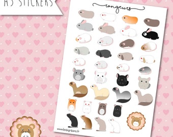 Rodents stickers