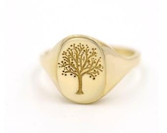 Tree Signet Ring