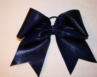 Navy Blue Mystic Cheer Bow