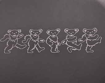 Grateful Dead Dancing Bears Lineup Outline Vinyl Sticker