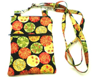 iPhone Cell Phone Case, Smartphone Phone Purse, Small Cross Body Bag, Adjustable Strap, Colorful Japanese Umbrellas 5282 5283