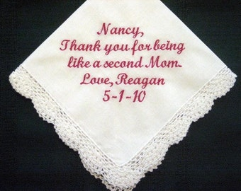 Someone Special,  Personalized Wedding Handkerchief, Ladies handkerchief 157S