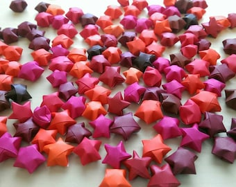 100 Assorted Red Origami Stars