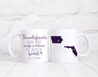 Friends forever never apart maybe in distance but never at heart/best friends coffee mug/coffee mug/coffee cup/besties/bff/long distance
