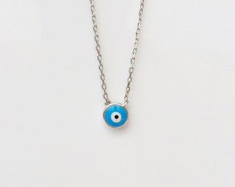 Evil Eye Necklace, Real .925 Sterling Silver • Safe to Get Wet • Trending Now • Dainty And Made to Last