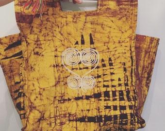 Vintage Cotton Shopping Bag • Market Tote • Vegan Bag • Ethnic  Boho