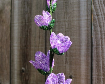French Beaded Gladiola Forever Flower