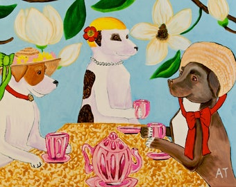 Pit Tea Party Original Art Print