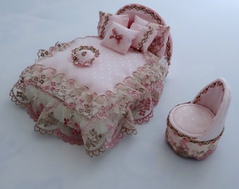 Double Divan Style Bed with Boudoir Chair