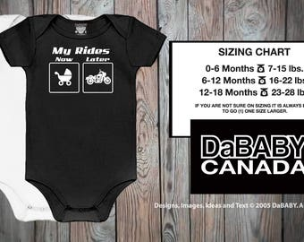 My Rides Now & Later Baby Motorcycle Bodysuit - Baby Biker Shirts - Baby Girl Motorcycle - Baby Boy Motorcycle - Dirt Bike Baby Bodysuit