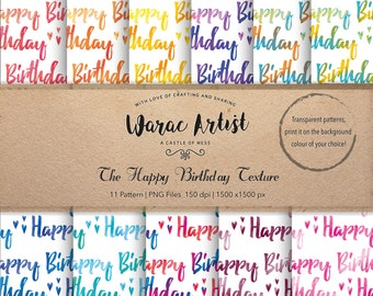 The Happy Birthday Texture - Digital Paper