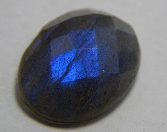 Natural Labradorite Gemstone Faceted Loose Cabochon Oval Shape Blue Power Flash  Size : 12X16 MM Approx Best Quality On Wholesale Price.