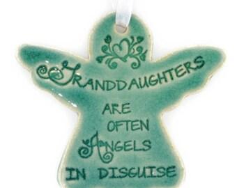 Christmas ornaments Granddaughter gift angel ornaments Christmas gift for Granddaughter angel gifts religious gifts for Granddaughter