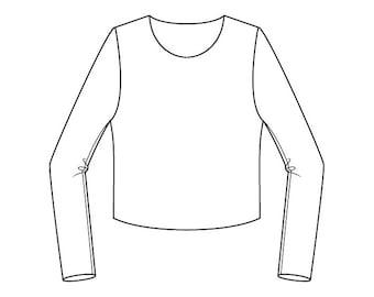 Basic Men's Body Block Pattern - Sizes 34-48 - Download PDF