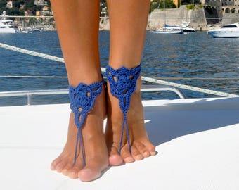 Crochet Foot Thongs Bridesmaid Shoes Barefoot Sandals Foot Jewelry Bridesmaid Sandals Boho Jewelry Barefoot Sandal Bohemian Wedding Shoes