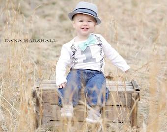 First Birthday Boy Shirts First Birthday Boy Outfits Cake Smash Boy 1st Birthday Outfits Boy Suspender Bow Tie Aqua Blue Bow Tie