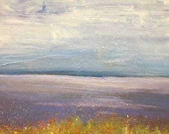 Out to sea original oil painting