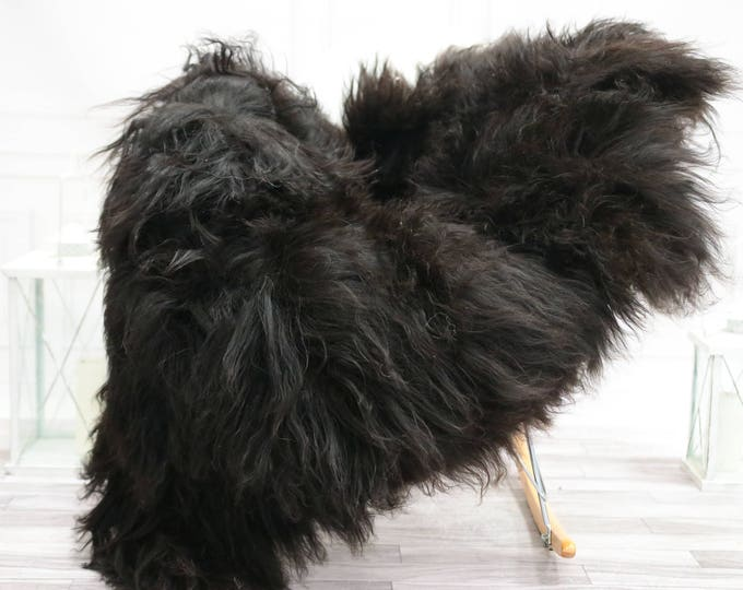 Icelandic Sheepskin | Real Sheepskin Rug | I Black Sheepskin Rug | Fur Rug | Christmas Decorations #TADISL14