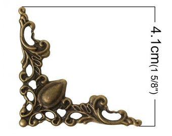 Corner decorative baroque style bronze tone has 4.1 cm set of 4 pieces