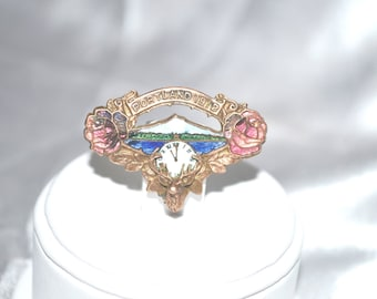 RESERVED Antique 1912 Portland Oregon's Rose Parade Commemorative Pin